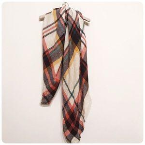 Accessories - Large plaid scarf wrap